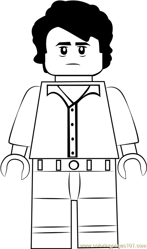 Lego Bruce Banner Coloring Page