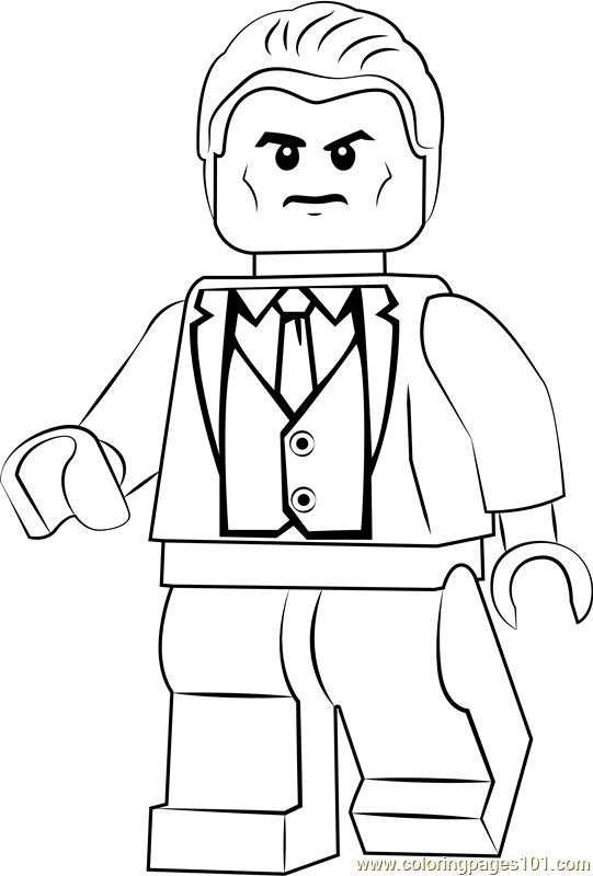 Lego Bruce Wayne Coloring Page Free Lego Coloring Pages Coloringpages101 Com