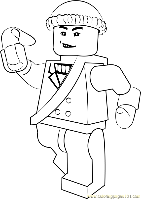 Lego Captain Boomerang Coloring Page