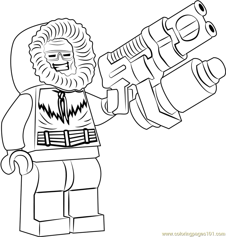 Lego Captain Cold Coloring Page