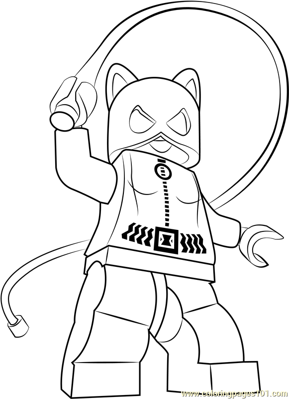 Lego Catwoman Coloring Page