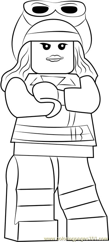 Lego Cloud 9 Coloring Page