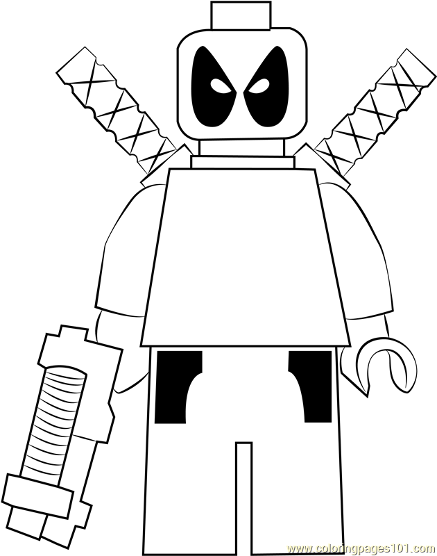 Lego Deadpool Coloring Page