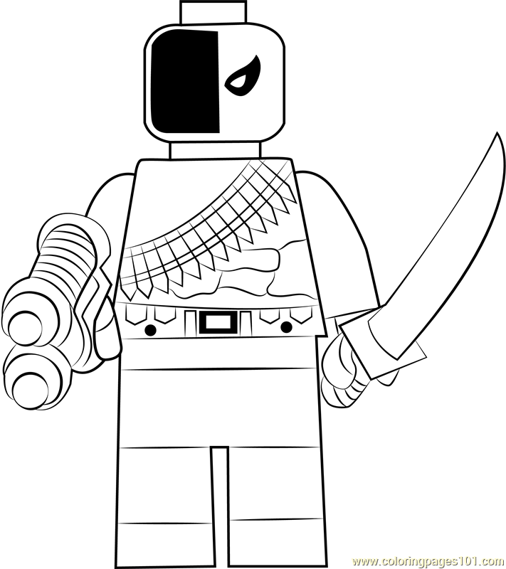 Lego Deathstroke Coloring Page Free Lego Coloring Pages