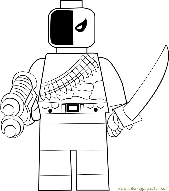 Lego Deathstroke Coloring Page