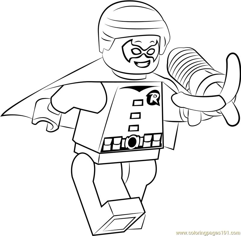 Lego Dick Grayson Aka Robin Jr Coloring Page Free Lego Coloring Pages Coloringpages101 Com