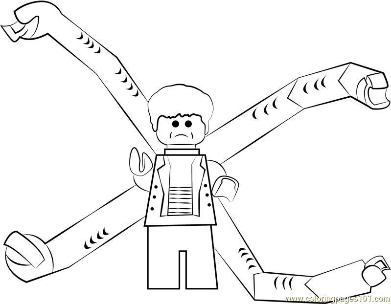 Lego Doc Ock Coloring Page