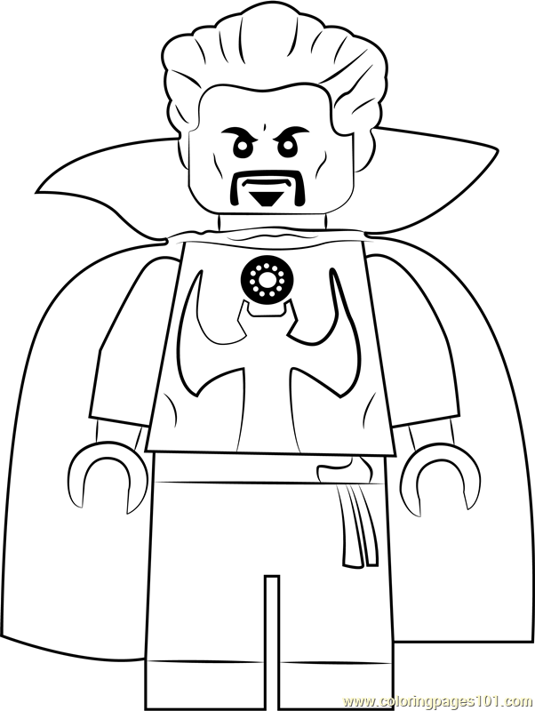 Lego Doctor Strange Coloring Page