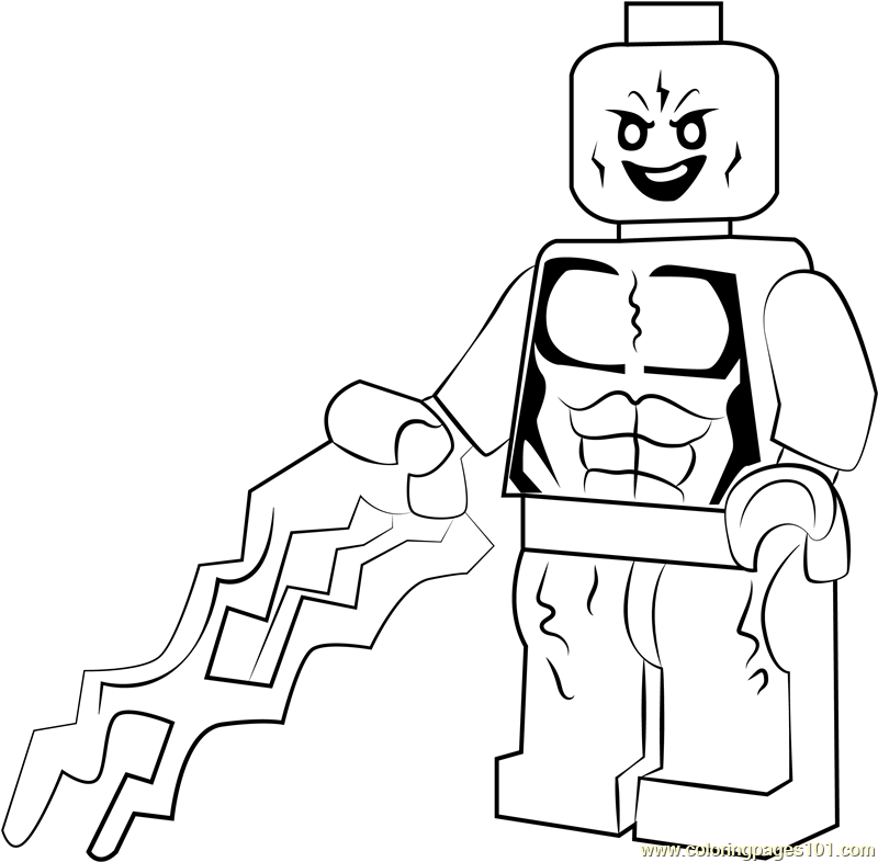 Lego Electro Coloring Page Free