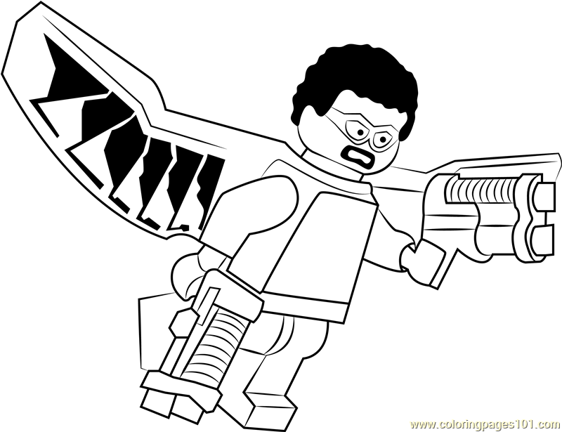 Lego Falcon Printable Coloring Page For Kids And Adults