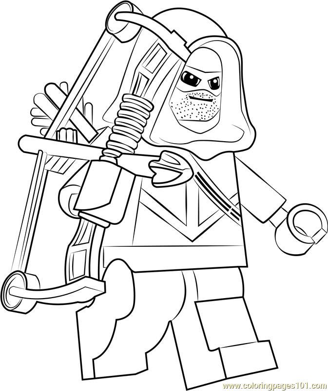 Lego Green Arrow Coloring Page Free Lego Coloring Pages