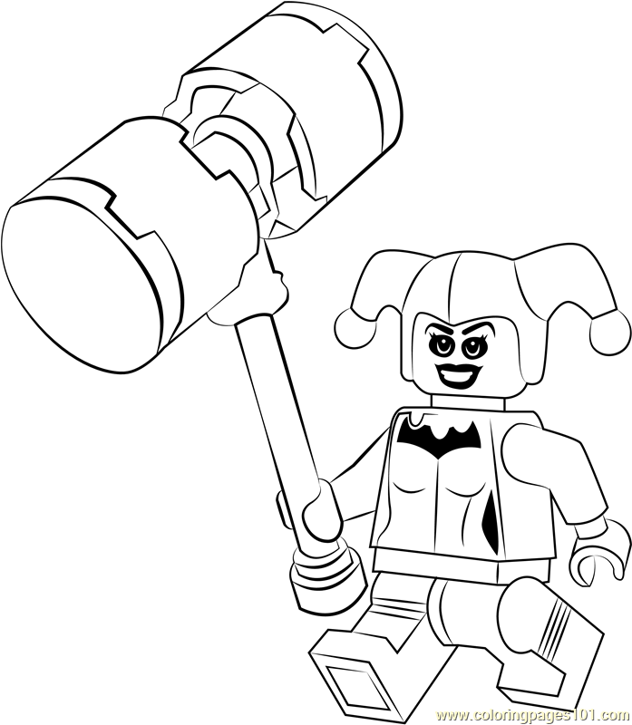 Lego Harley Quinn Coloring Page - Free Lego Coloring Pages ...