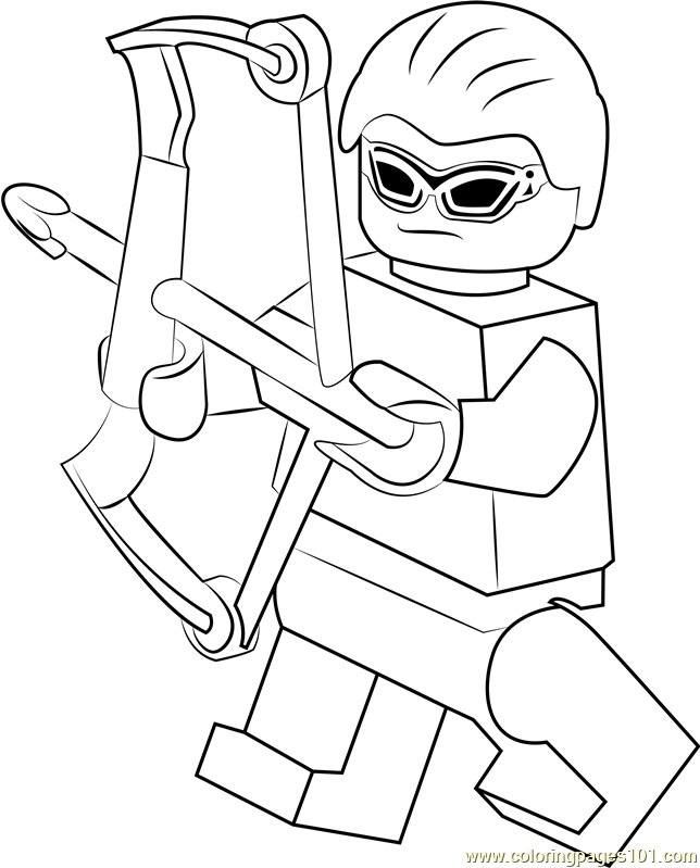 Lego Hawkeye Coloring Page