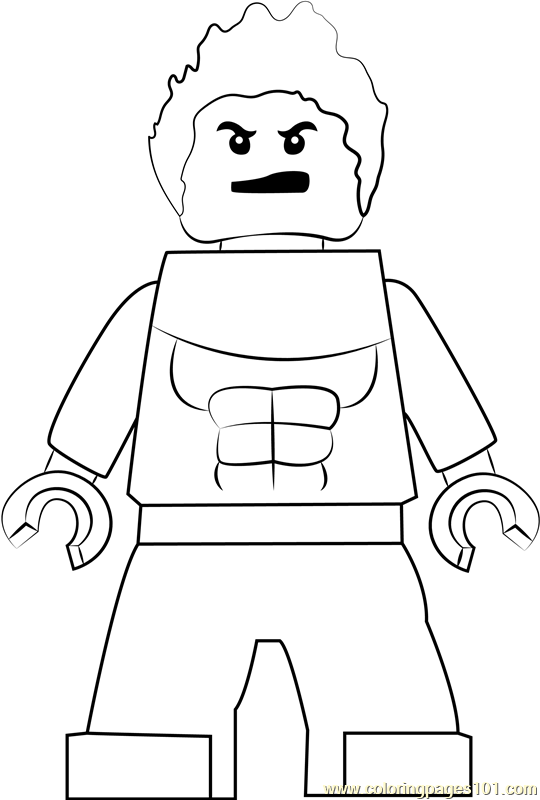 Lego Hulkling Coloring Page