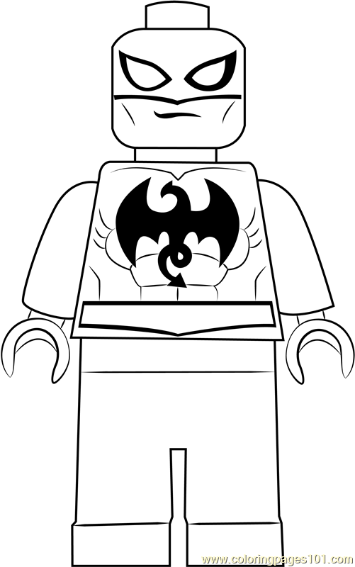 lego iron fist coloring page