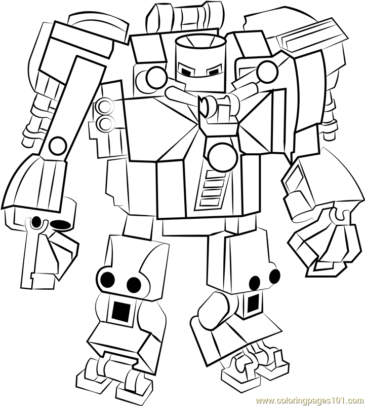 Lego Iron Monger Coloring Page