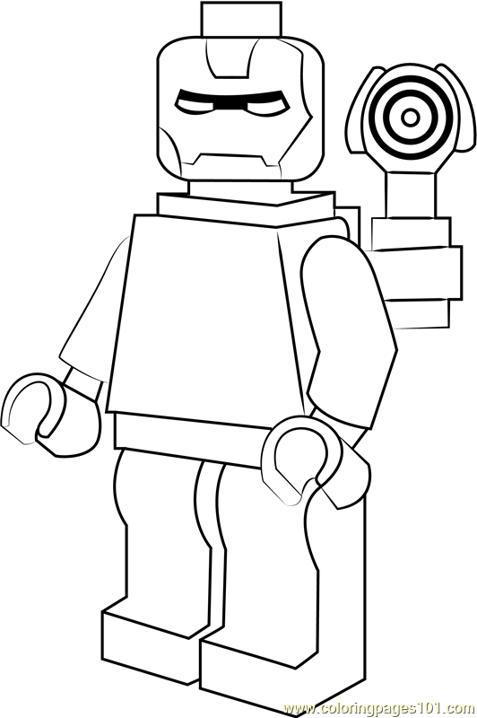 Lego Iron Patriot Coloring Page Free Lego Coloring Pages