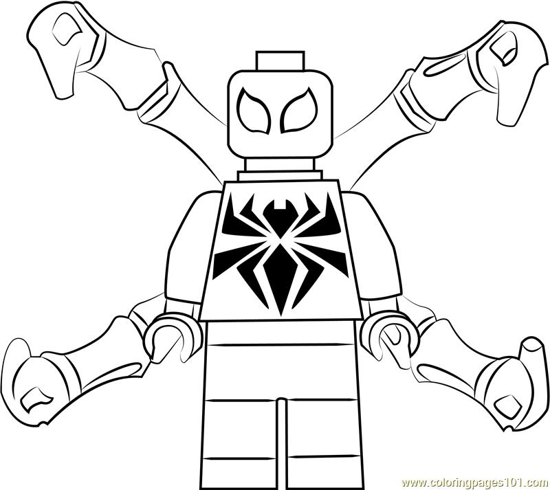 Lego Iron Spider Coloring Page Free Lego Coloring Pages Coloringpages101 Com