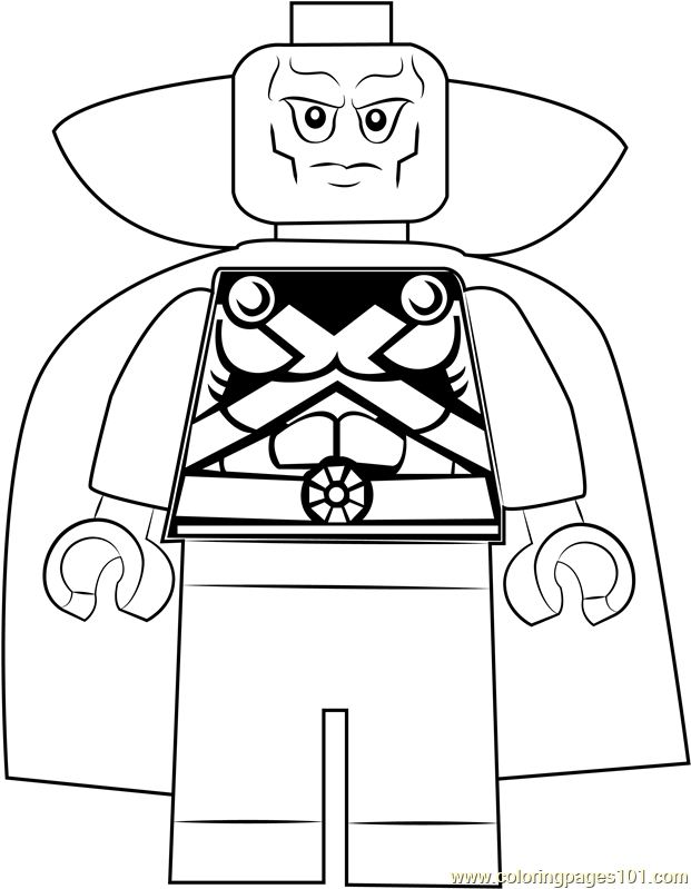 Lego Martian Manhunter Coloring Page Free Lego Coloring