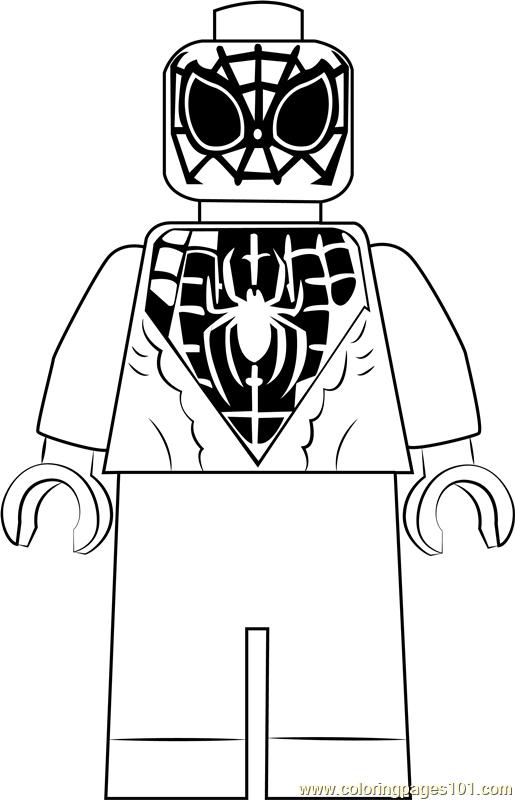 Lego Miles Morales Coloring Page