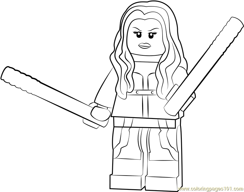 Lego Mockingbird Coloring Page