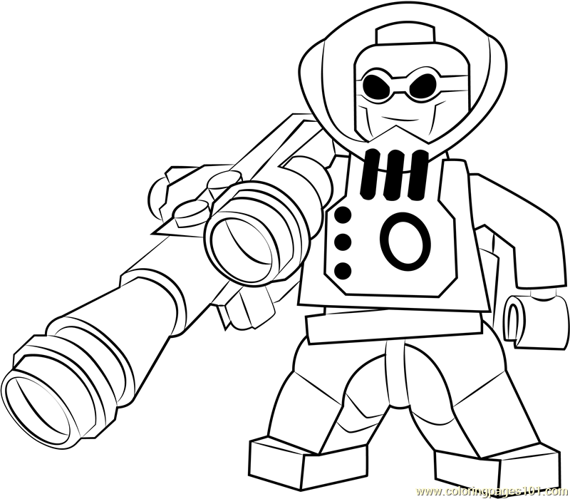 Lego Mr Coloring Page Free Lego