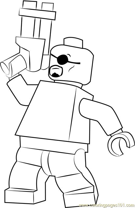 Lego Nick Fury Coloring Page