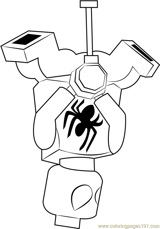 Lego Scarlet Spider Coloring Page