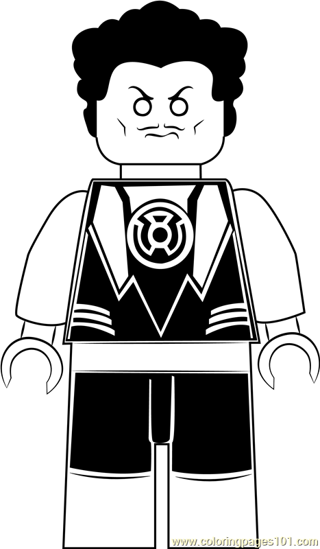 Lego Sinestro Coloring Page Free Lego Coloring Pages