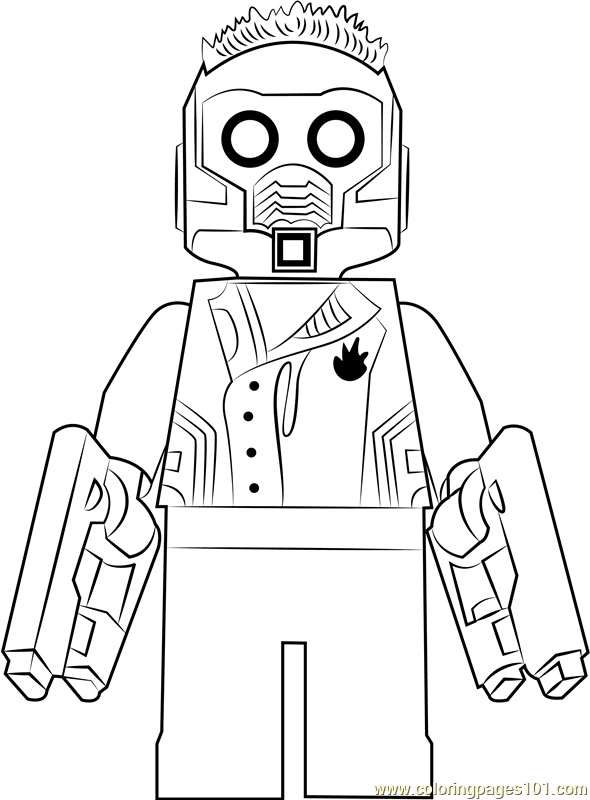 Lego Star Lord Coloring Page