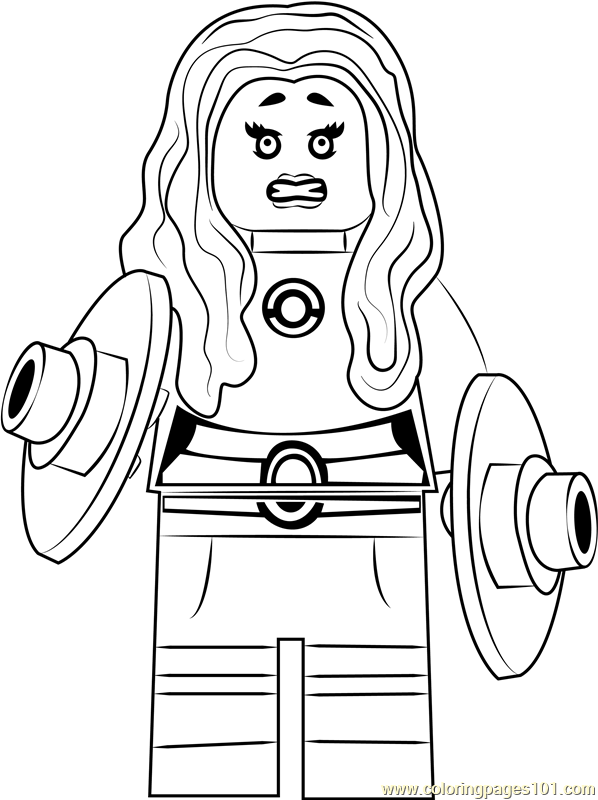 Lego Starfire Coloring Page Free
