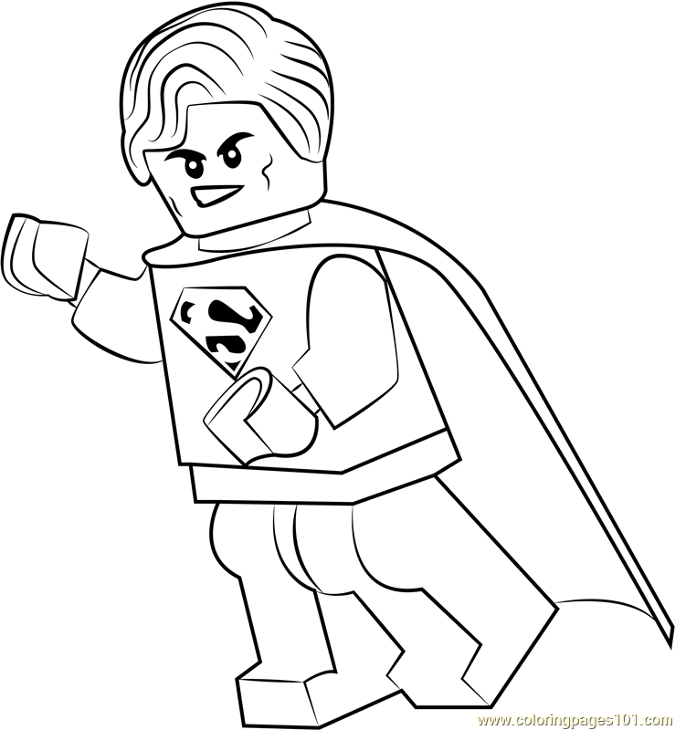Lego Superman Coloring Page Free Lego Coloring Pages Coloringpages101 Com