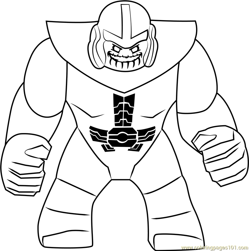 Lego Marvel Coloring Pages To Download And Print For Free: Lego Thanos Coloring Page