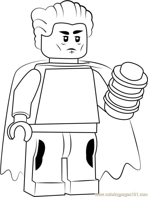 Lego The Collector Coloring Page
