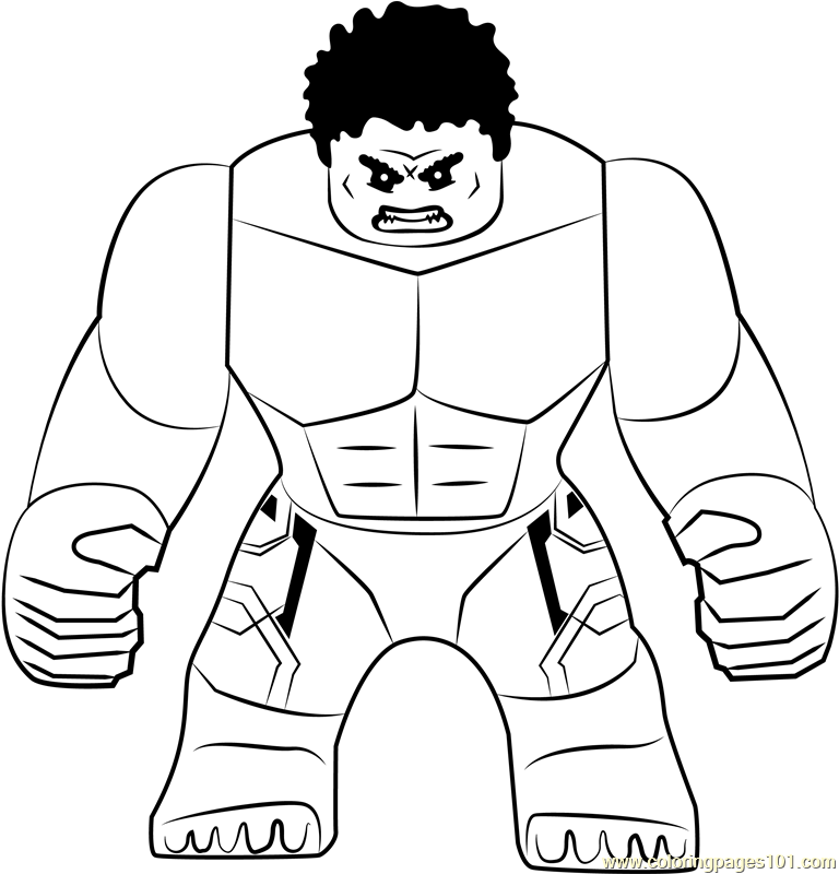 Lego The Hulk Coloring Page