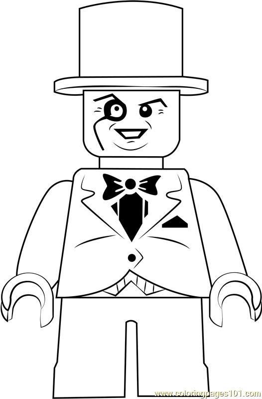 Lego The Penguin Coloring Page