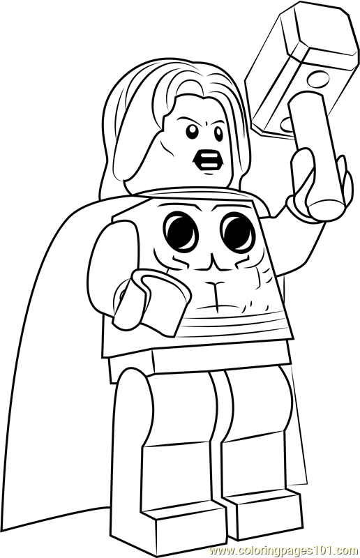 Lego Marvel Coloring Pages To Download And Print For Free: Free Lego Coloring Pages