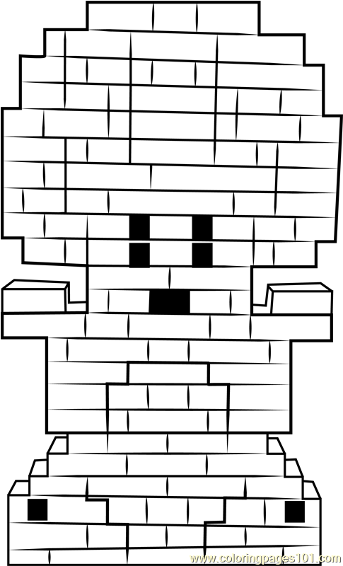 Lego Toad Coloring Page