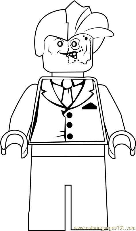 Lego Two Face Coloring Page - Free Lego Coloring Pages ...
