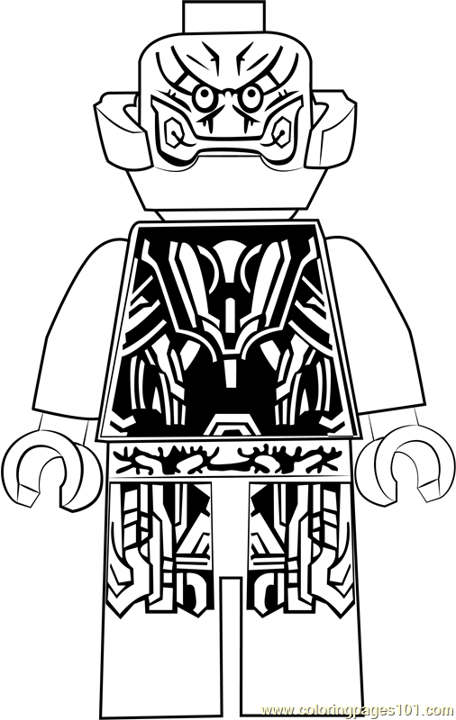 Lego Ultron Coloring Page