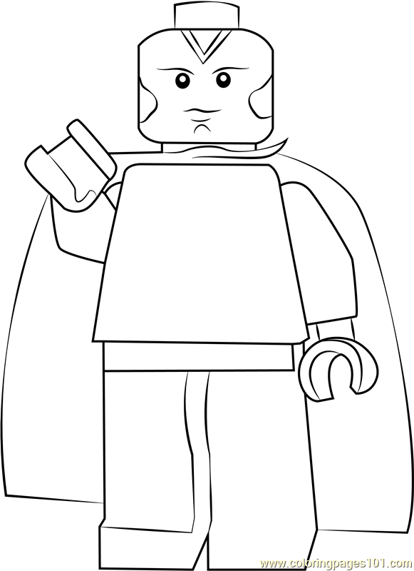 Lego Vision Coloring Page Free Lego Coloring Pages