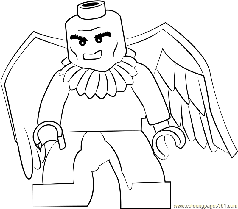 Lego Vulture Coloring Page