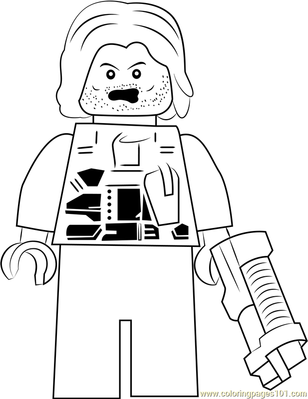 Lego Winter Soldier Coloring Page