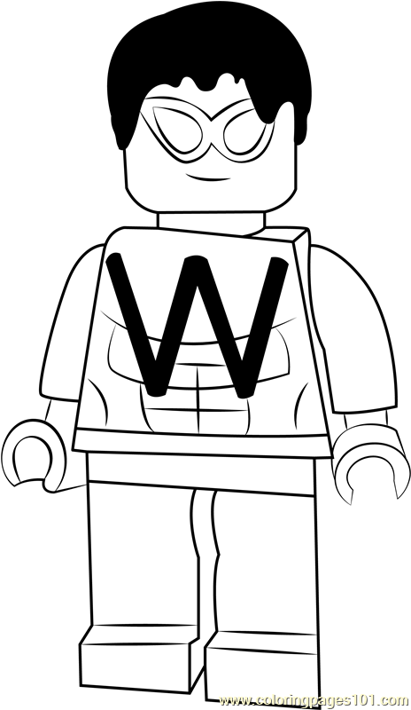 Lego Wonder Man Coloring Page - Free Lego Coloring Pages ...