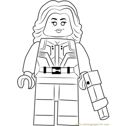Lego Agent 13 Free Coloring Page for Kids