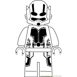 Lego Ant Man 1 Free Coloring Page for Kids