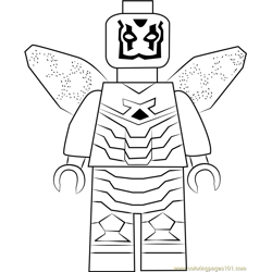 Lego Blue Beetle Free Coloring Page for Kids