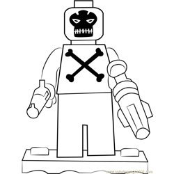 Lego Crossbones Free Coloring Page for Kids