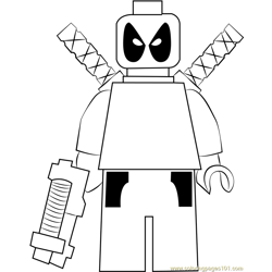 Lego Deadpool Coloring Pages For Kids Download Lego Deadpool Printable Coloring Pages Coloringpages101 Com