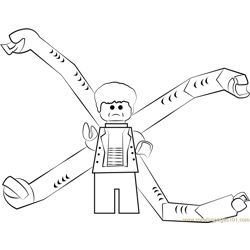 Lego Doc Ock Free Coloring Page for Kids